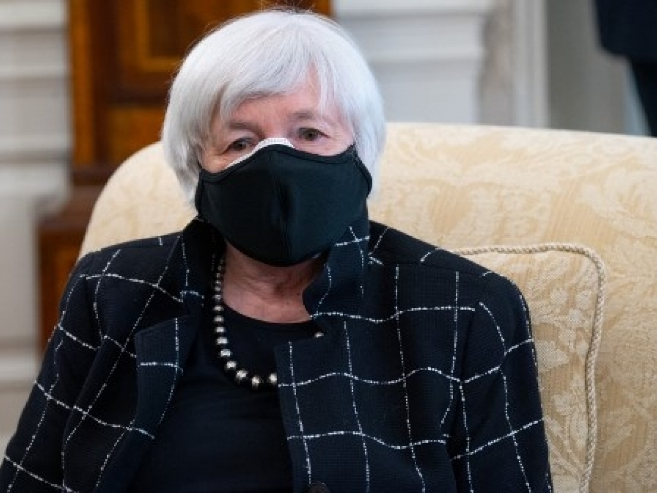 Janet Yellen has played down concerns over the impact of Joe Biden's infrastructure plan. File photo: AFP