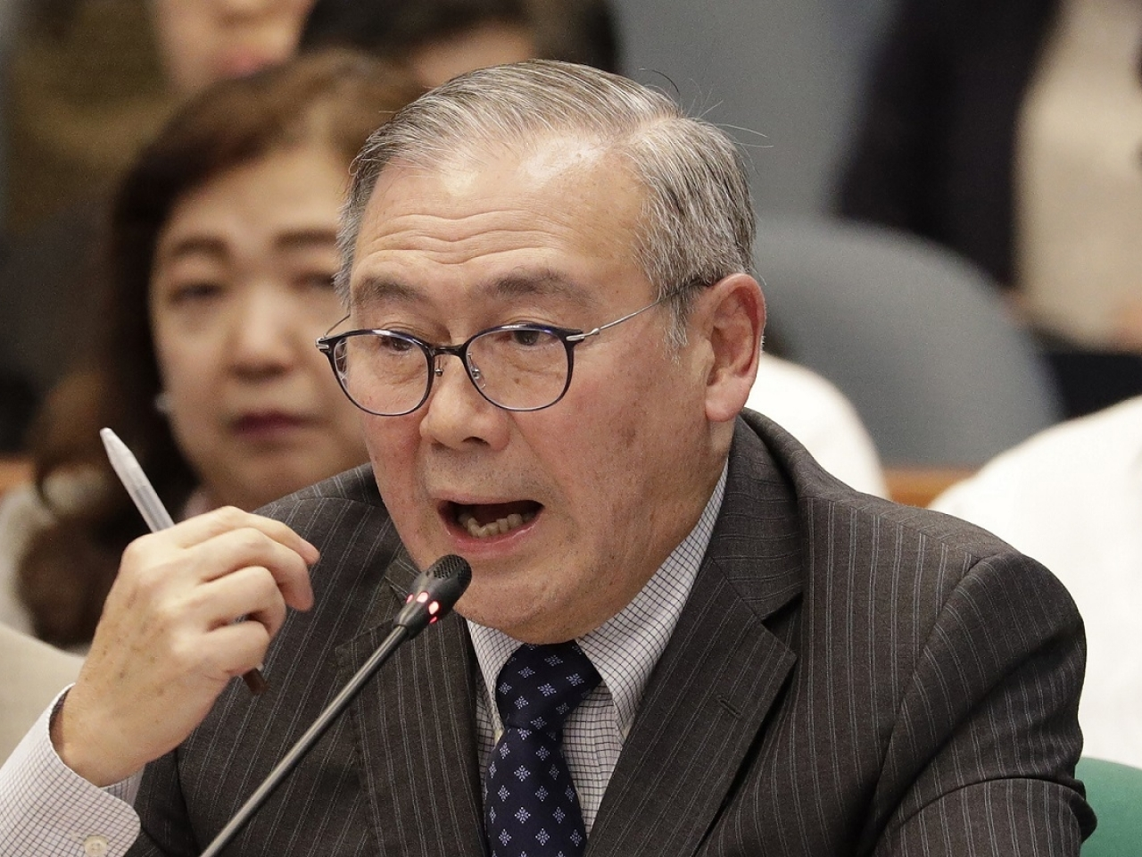 Foreign affairs secretary Teodoro Locsin apologised after tweeting an obscene phrase. File photo: AP
