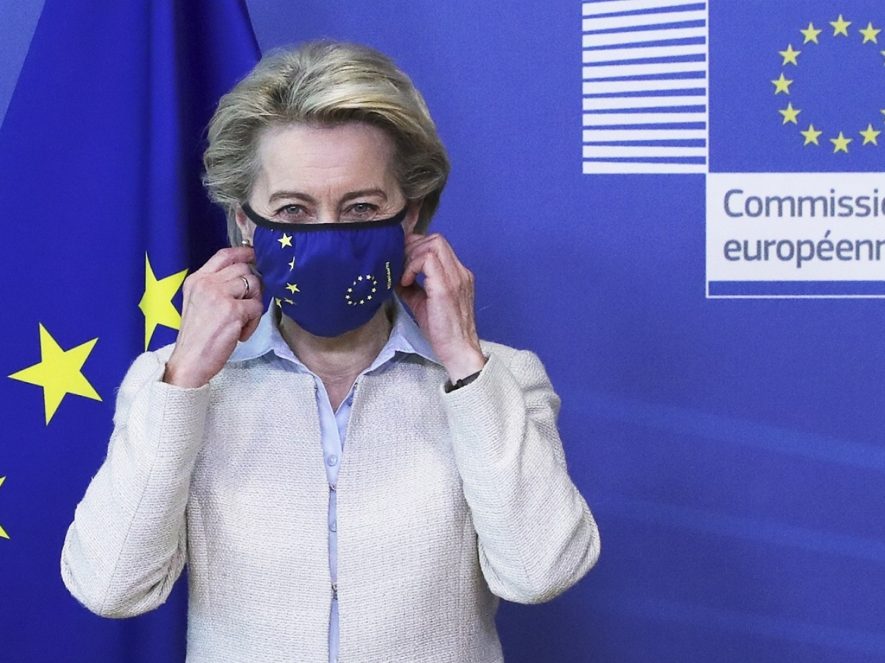 European Commission President Ursula von der Leyen also implicitly criticised the US and the UK for limiting vaccine exports. File photo: AP
