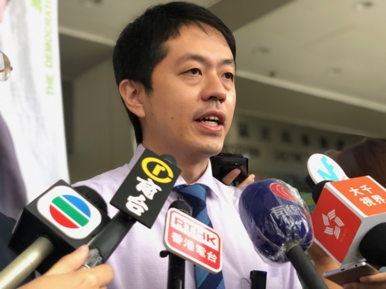 The judge said he had reason to believe that Ted Hui (pictured) had misled the court into believing he was leaving Hong Kong temporarily. File photo: RTHK