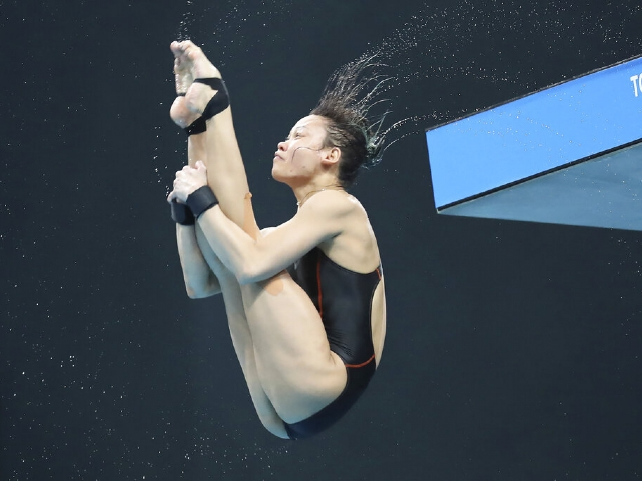 Malaysian diver Pandelela Pamg takes part in a pre-Olympic event in Tokyo this week. Concern has mounted in Japan over the safety of the Games. Photo: AP