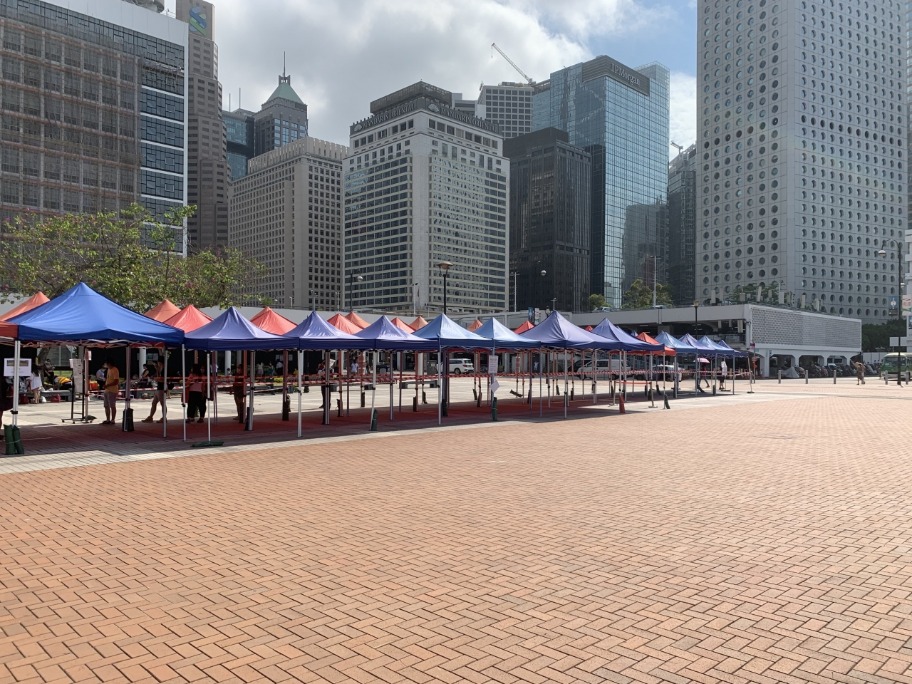 A testing centre in Central. Photo: RTHK
