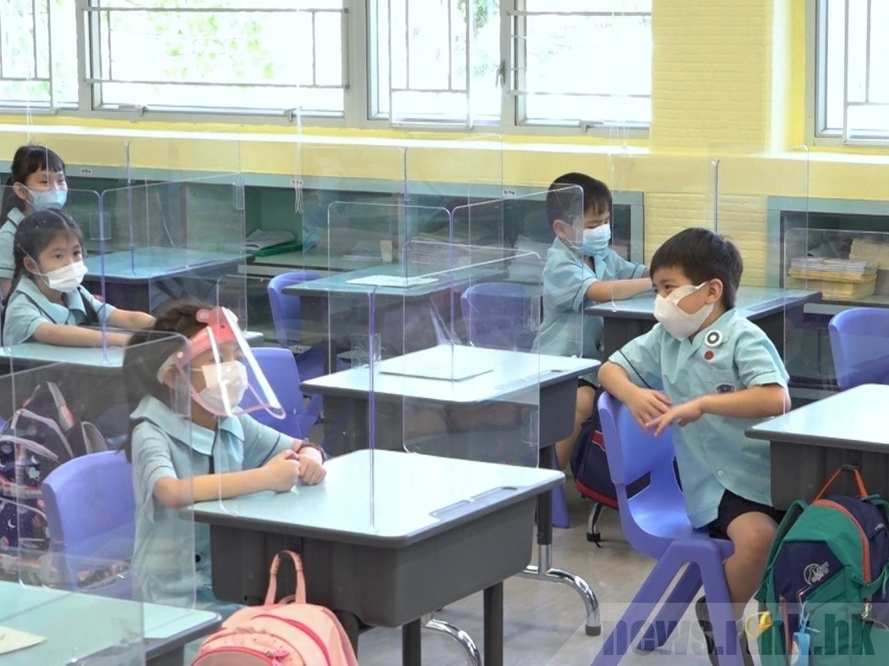 All children can go back to school for half-day classes from May 24. File photo: RTHK