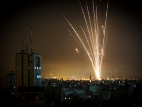 Israel bombards Gaza in response to rocket fire