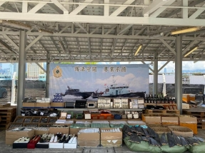 Customs officers seized an estimated HK$50 million worth of goods. Photo: Courtesy of Customs and Excise Department