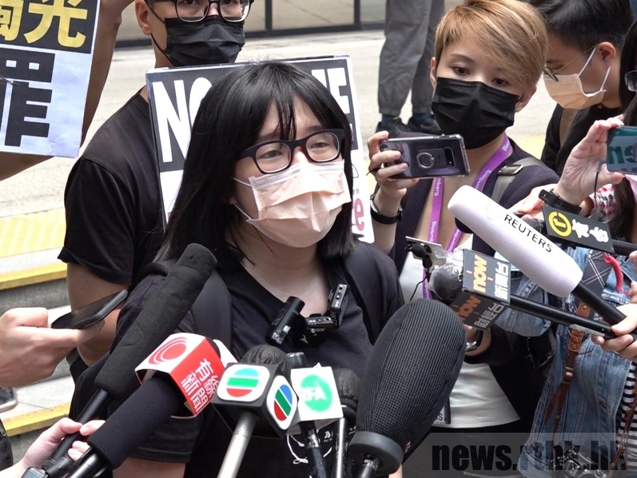 The vice-chairwoman of the Hong Kong Alliance Chow Hang-tung has said she would go to Victoria Park on June 4 in a personal capacity to mourn the victims of the 1989 crackdown. File photo: RTHK