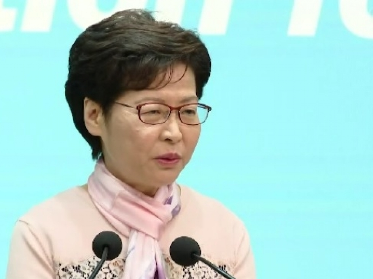 Carrie Lam says the incumbent group of district councillors present 'immense challenges' to government officials. Photo: RTHK
