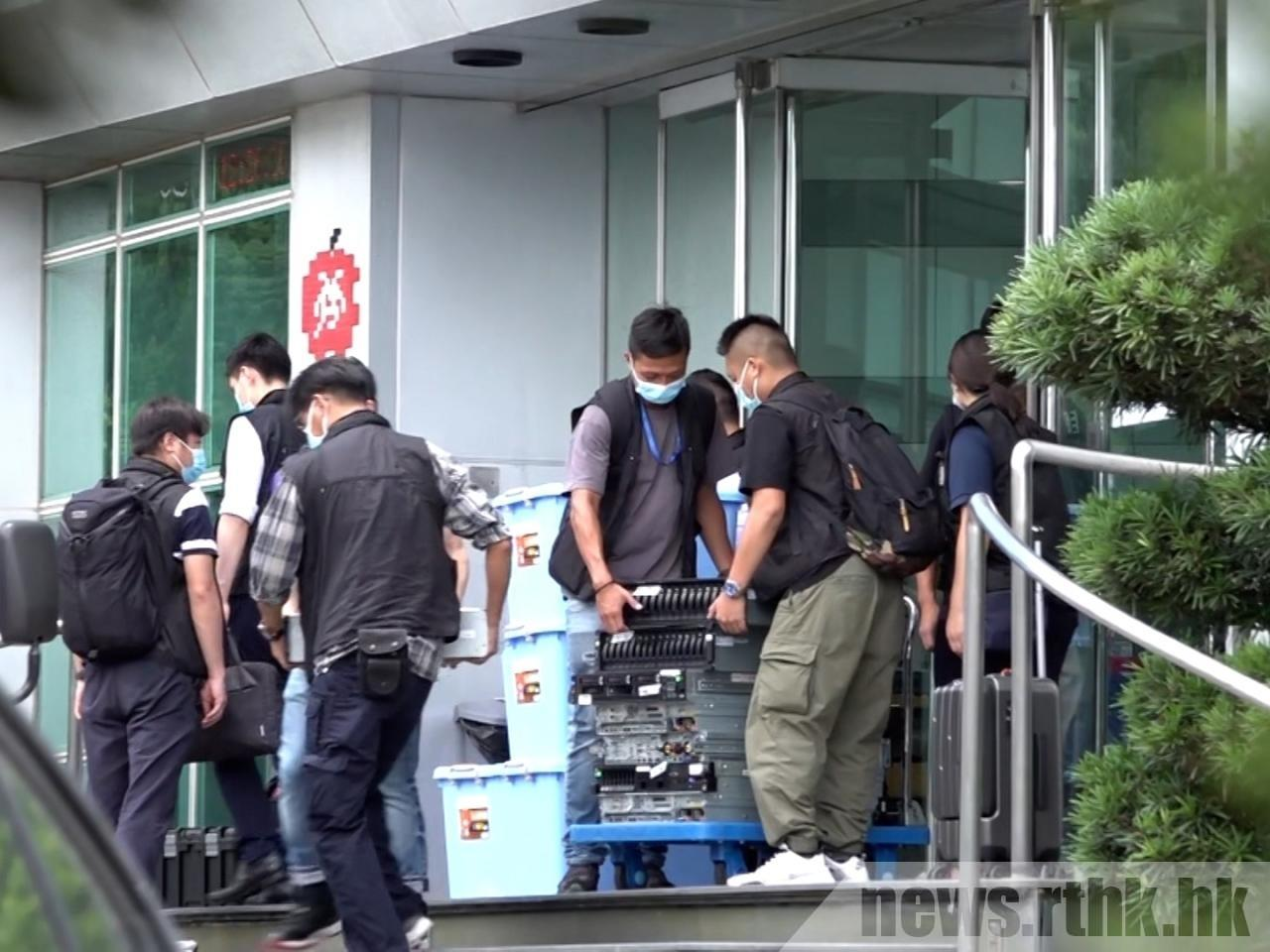 The police's search warrant covers journalistic materials. Photo: RTHK