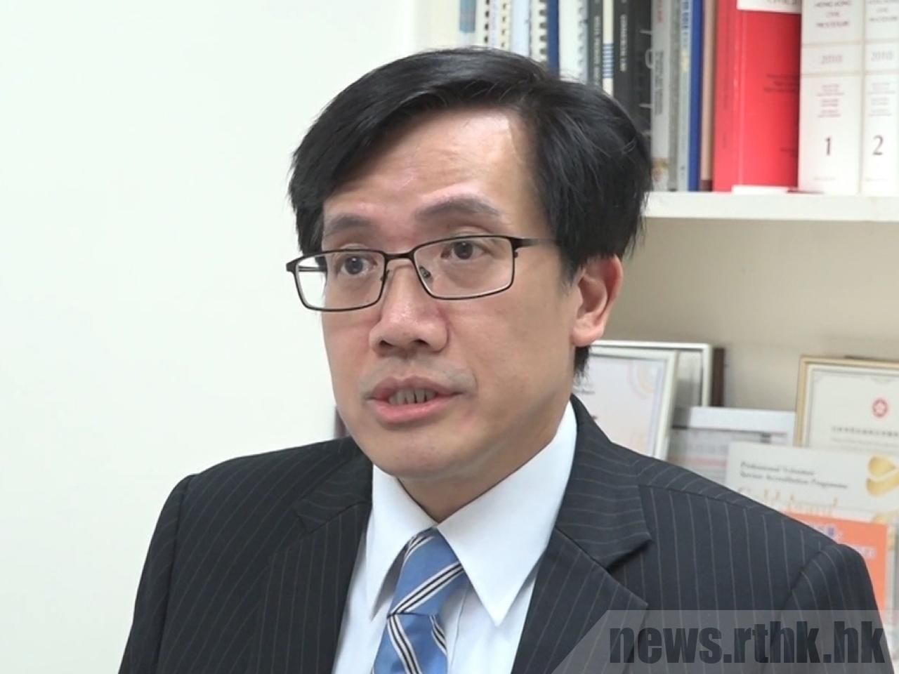 Alex Lam says the government should be more transparent about compensation given to people who experience complications from Covid-19 jabs. File photo: RTHK
