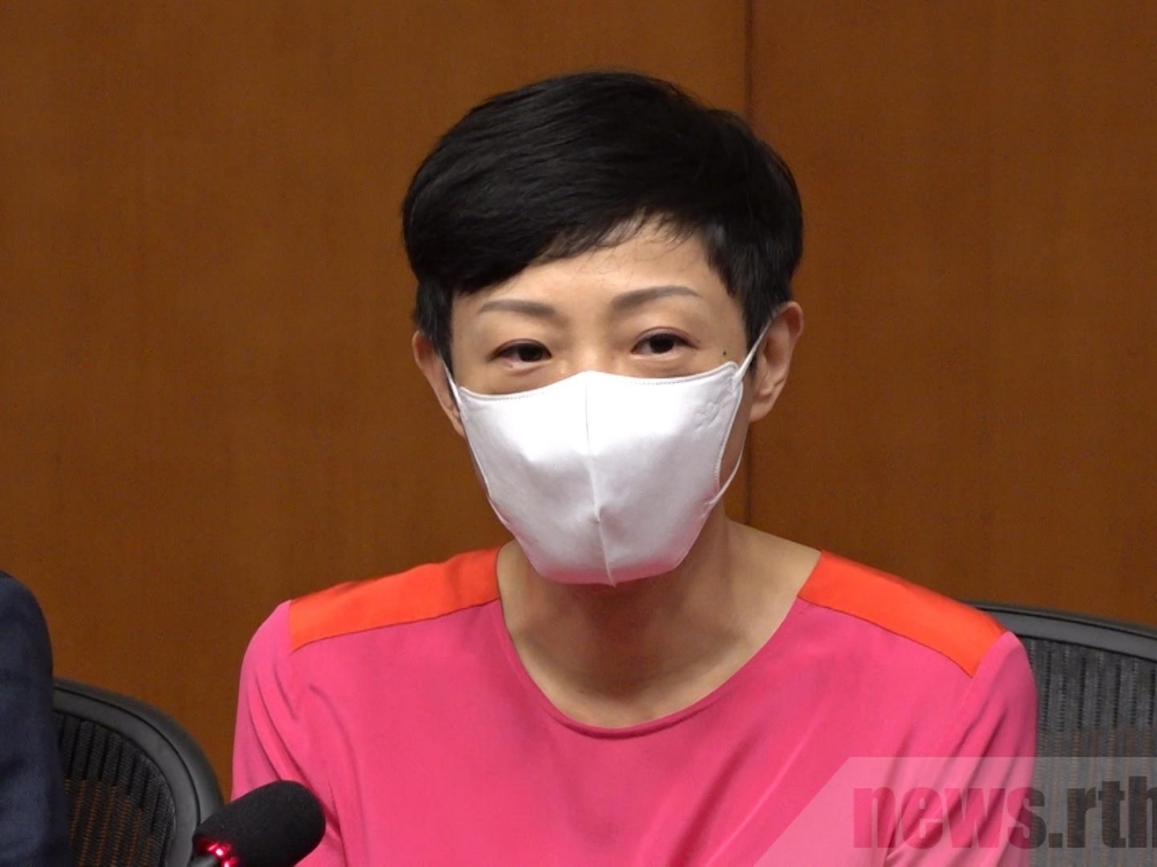 The court said Tanya Chan was explaining social distancing rules to bar owners and the meeting was not subject to gathering restrictions. File photo: RTHK