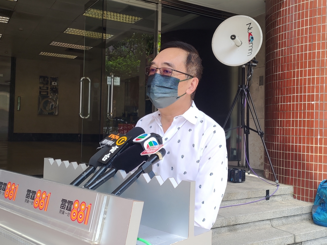 The head of the General Chamber of Hong Kong, George Leung, says a high vaccination rate is essential for the economy to recover. Photo: RTHK