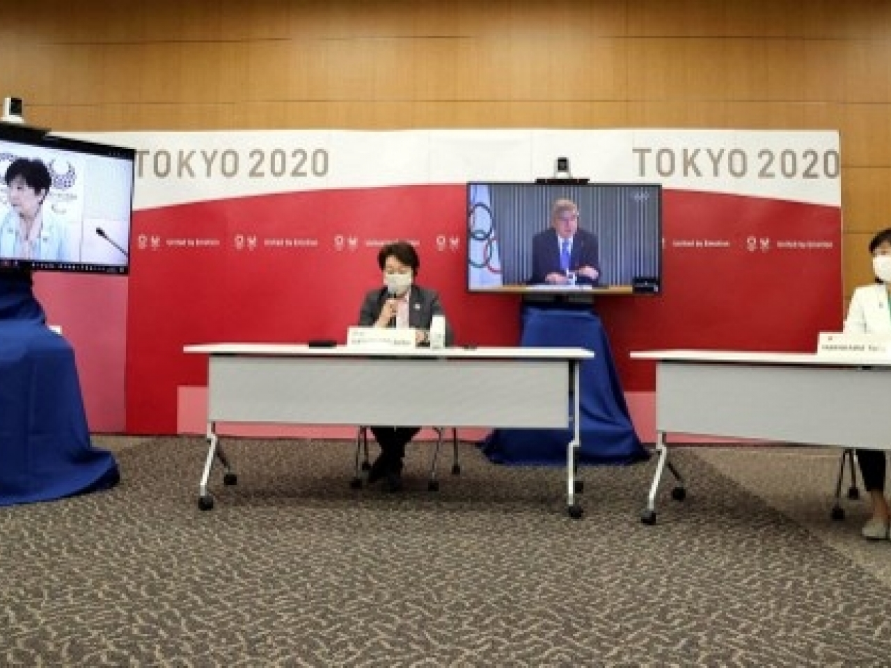 The decision was announced after five-way talks between Tokyo 2020 organisers and officials from Japan's government, the Tokyo government, the International Olympic Committee and the International Paralympic Committee. Photo: AFP