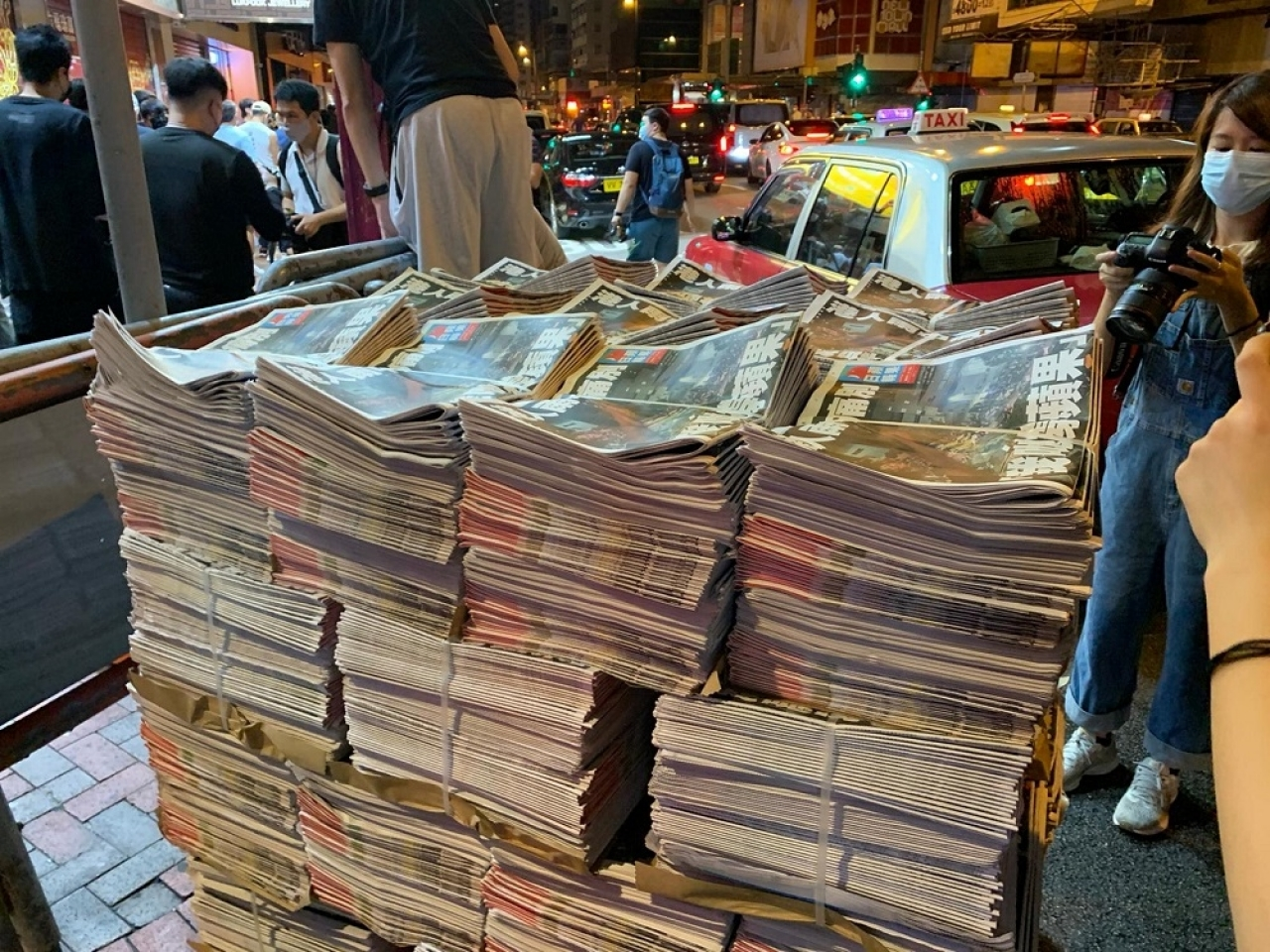 Extra copies were printed to cope with the expected demand. Photo: RTHK