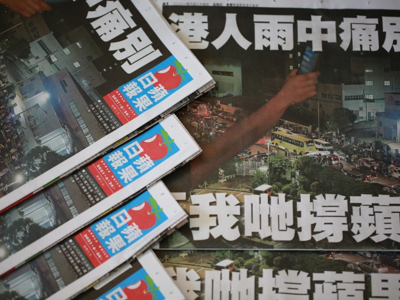 Reporters Without Borders accused the CE of 'relentlessly' targeting symbols of press freedom in Hong Kong, citing the freezing of Apple Daily's financial assets and forcing it to shut down. File image:: Shutterstock