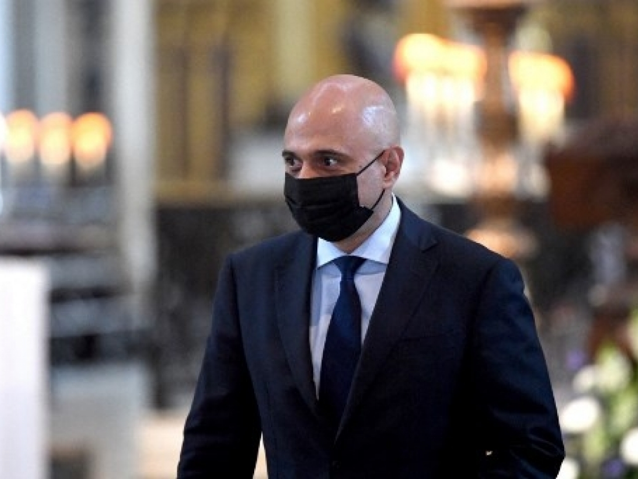 Sajid Javid is now required to self-isolate for 10 days unless the PCR test he's taken comes back negative and he no longer has symptoms. File photo: AFP