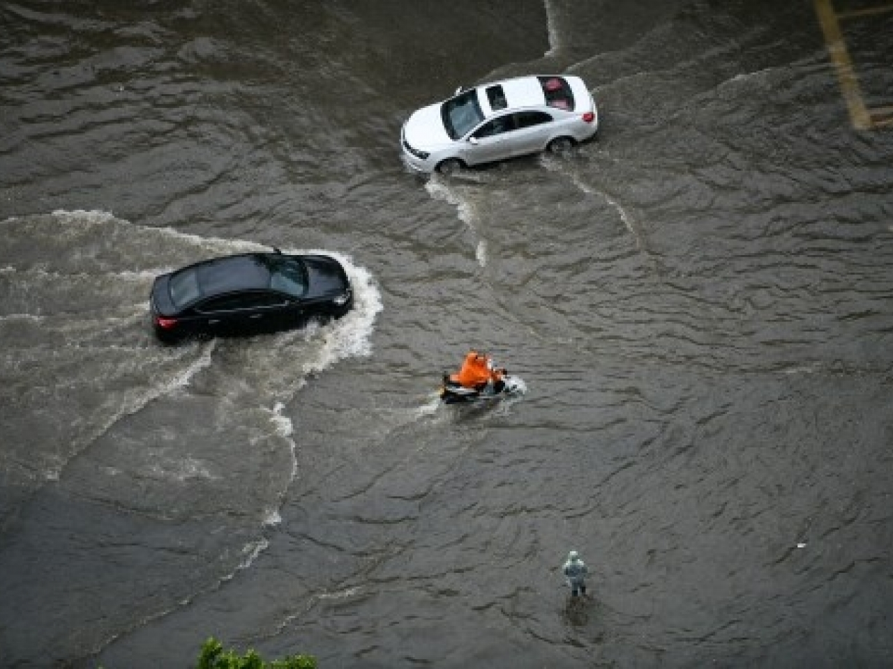 There has been flooding in Henan province. Photo: AFP