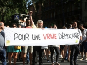 Protests in France over Covid health pass