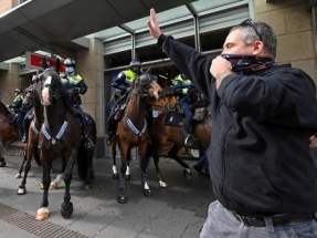 NSW records 141 Covid cases as Sydney see protests