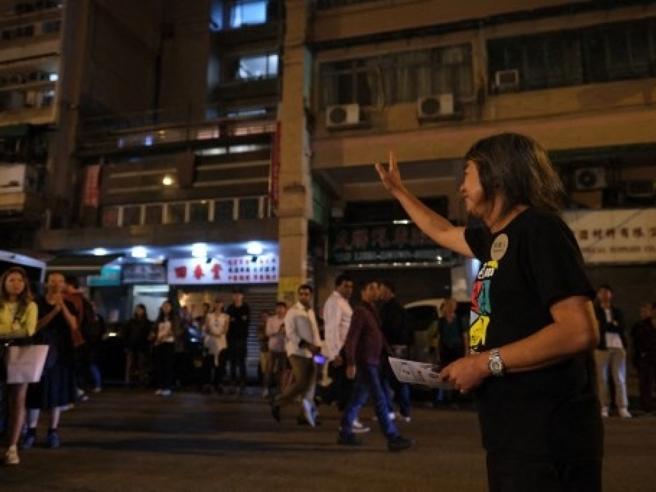 """Chan is the wife of jailed activist Leung Kwok-hung (pictured) who's better known as """"Long Hair"""". Photo: AFP"""