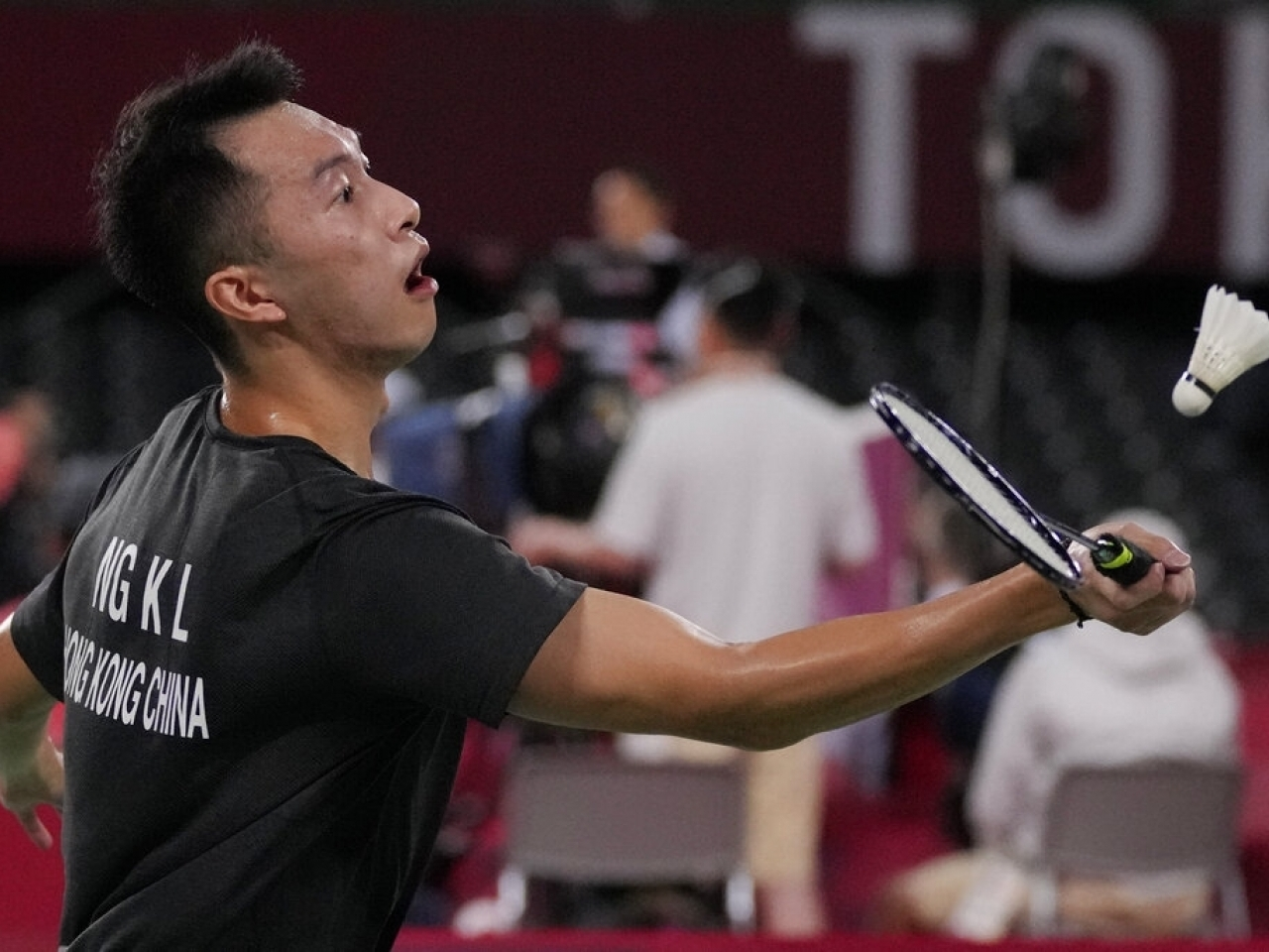 Angus Ng, who was defeated by a much lower-ranked player on Wednesday, said it would be wrong to say the controversy had not affected him. File photo: AP
