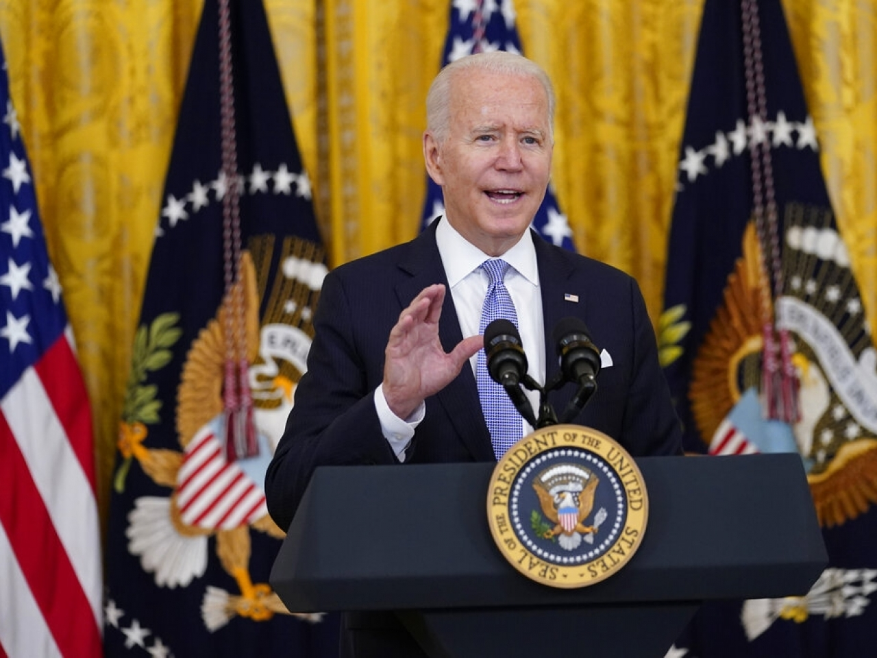 Joe Biden prepares to announce new vaccination rules for US government workers. Photo: AP