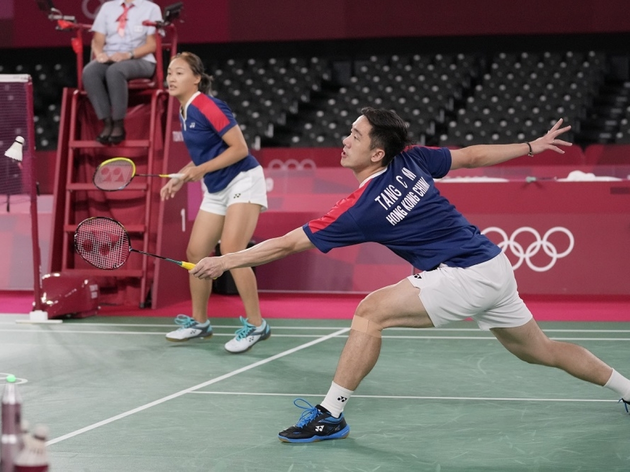 Tse Ying-suet and Tang Chun-man will leave the Tokyo Olympics without a medal after losing the bronze medal match against Japan. Photo: AP