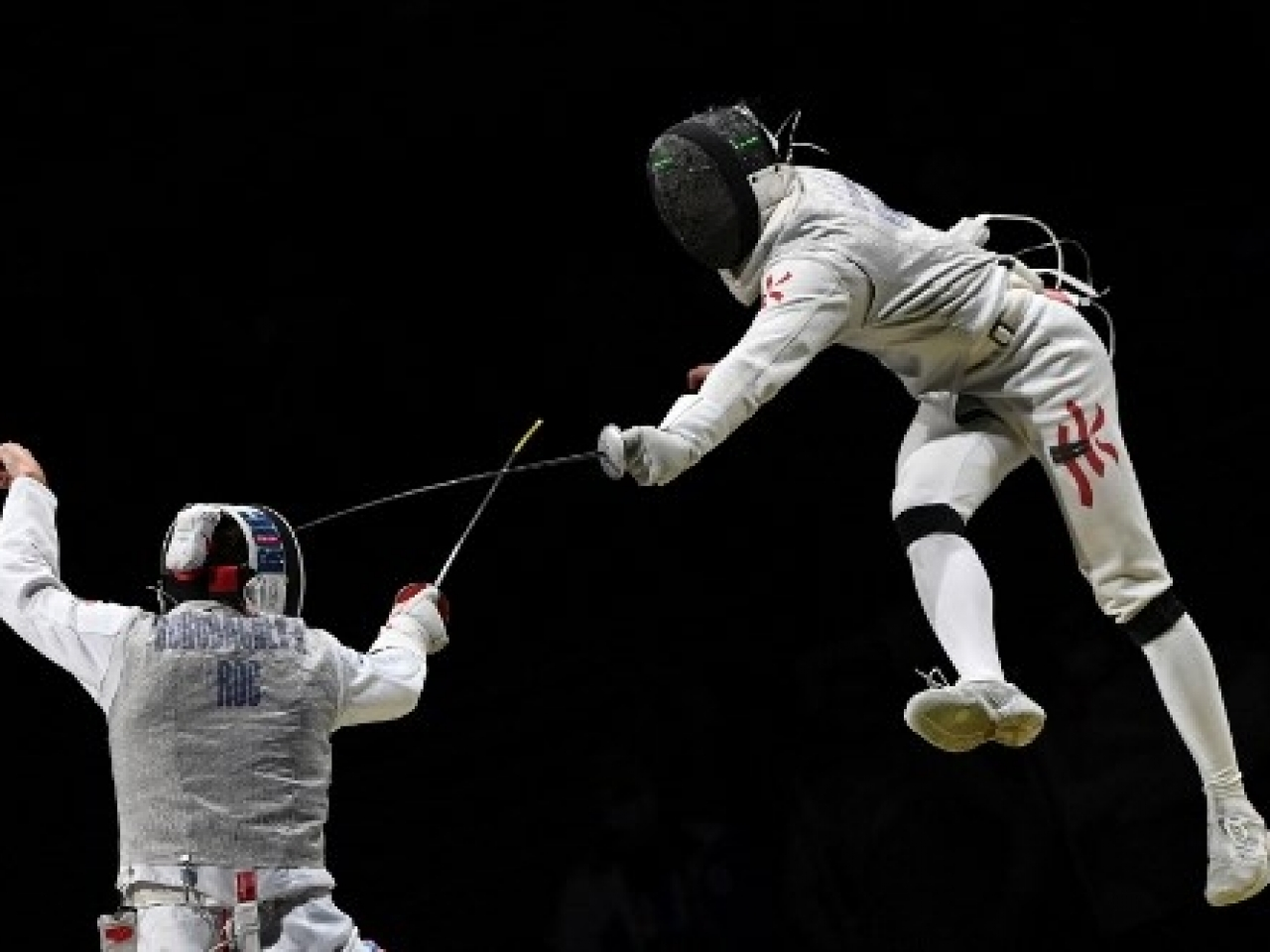 The bout was sometimes acrobatic, but Russia were just too good. Photo: AFP