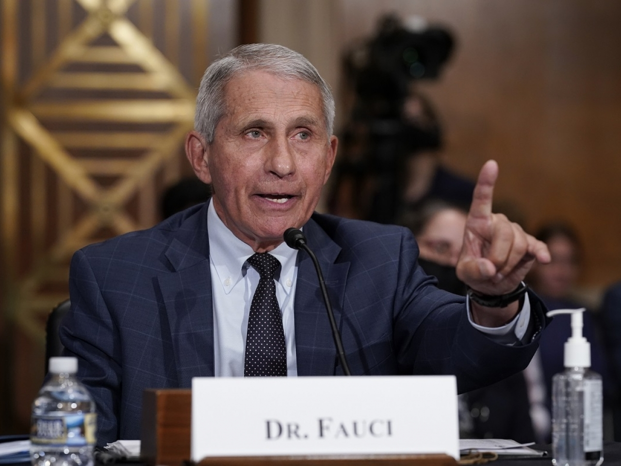 The United States' top infectious disease expert, Anthony Fauci says that enough Americans have been been vaccinated to avoid lockdowns. File photo: AP