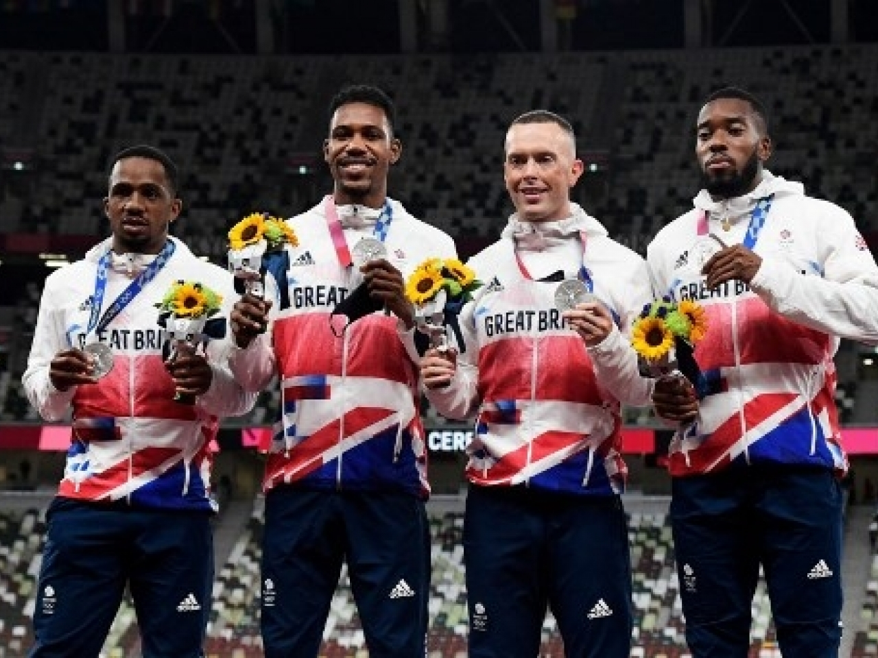 Team GB's CJ Ujah, Zharnel Hughes, Richard Kilty and Nethaneel Mitchell-Blake could be stripped of their siver medals from the 4x100m relay. Photo: AFP