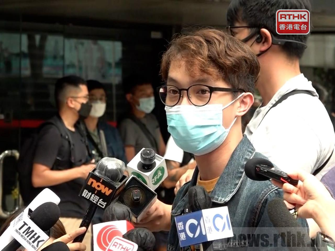 Civil Human Rights Front's convenor, Figo Chan, has been jailed over an anti-government protest in 2019. File photo: RTHK
