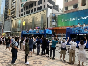 Sports fans cheer on record-breaking HK Olympians
