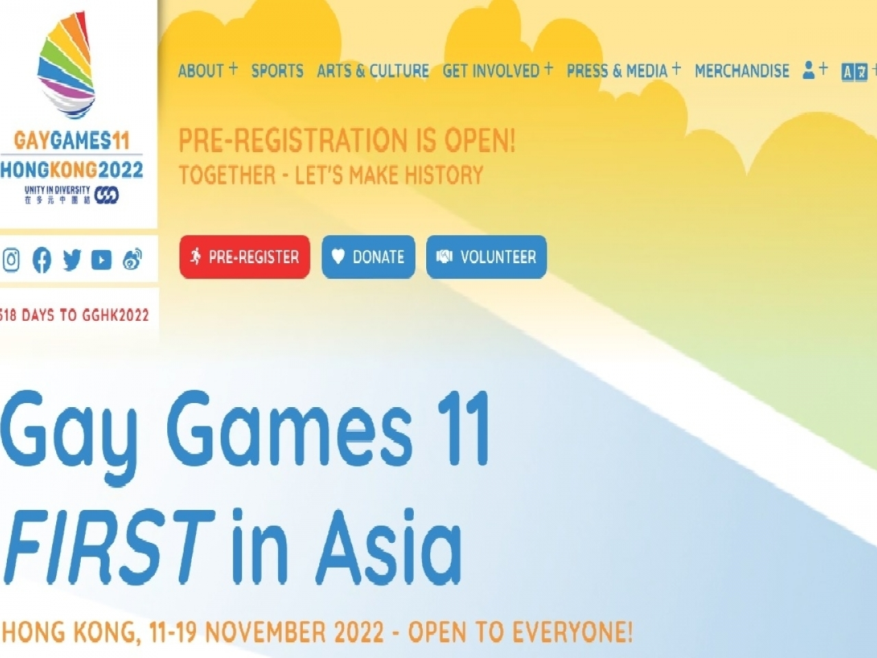 Organisers say delaying the Gay Games would give participants more time to prepare. Image courtesy of the Gay Games 11 Hong Kong 2022