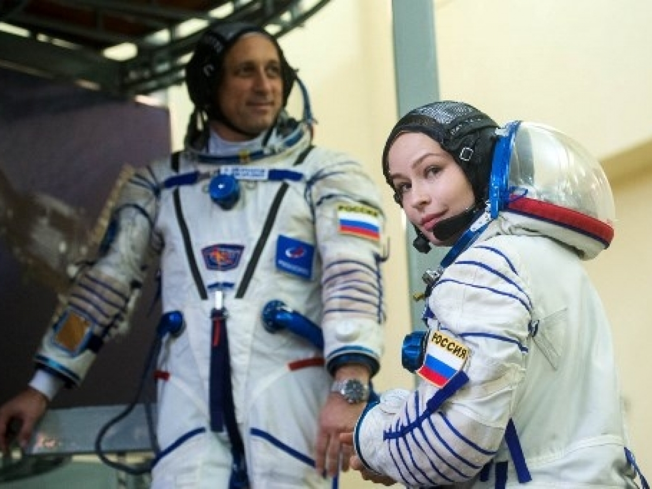 Lead actress Yulia Peresild will head to the ISS to film the first movie in space. Photo: AFP