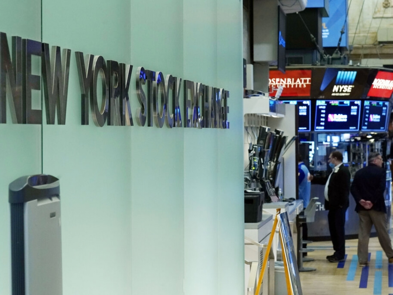 Only the blue-chip Dow Jones Industrial Average closed in positive territory. File photo: AP