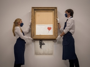 Shredded Banksy canvas sells for record US$25.38m